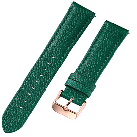 Genuine Leather / Leather / Calf Hair Watch Band Strap for Blue / Brown / Green 17cm / 6.69 Inches / 18cm / 7 Inches / 19cm / 7.48 Inches 1cm / 0.39 Inches / 1