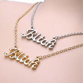 Women's Pendant Necklace wrap necklace Alphabet Shape Simple Gold Silver 46.5 cm Necklace Jewelry 1pc For Daily