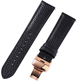 Genuine Leather / Leather / Calf Hair Watch Band Strap for Black / White / Red 17cm / 6.69 Inches / 18cm / 7 Inches / 19cm / 7.48 Inches 1cm / 0.39 Inches / 1.