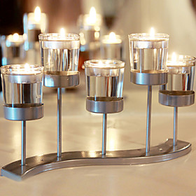 Modern Contemporary / Simple Style Glasses / Glass / Iron Candle Holders Novelty / Birthday / Candlestick 1pc, Candle / Candle Holder