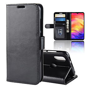 Case For Xiaomi Redmi Note 7 / Xiaomi Redmi 6 Pro Wallet / Card Holder / with Stand Full Body Cases Solid Colored Hard PU Leather for Xiaomi Redmi Note 6 / Xia