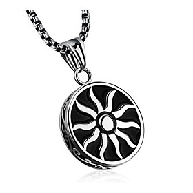 Men's Classic Pendant Necklace Steel Stainless Fashion Cool Silver 55 cm Necklace Jewelry 1pc For Gift Daily