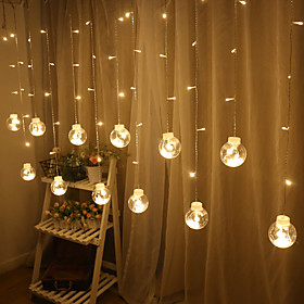 2.5m 12 LEDs Star lights waterproof lights led string lights wish ball bedroom curtain lights dormitory decoration Christmas lights