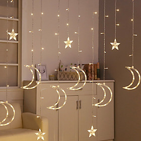 Star lights string lights background wall web celebrity decorative waterproof lights curtain decorative lights led lights string