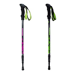 3 Sections Multifunction Walking Poles Trekking Pole Accessories 130cm (51 Inches) Outdoor Adjustable Length Handles Tungsten Carbon Fiber Camping / Hiking / C