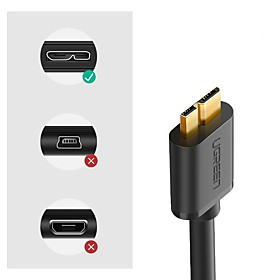 Ugreen Micro USB 3.0 Cable 2.1A 1M Fast Charging Data Cable USB Cord Mobile Phone Cables for Samsung Galaxy Note 3 S5 Hard Disk