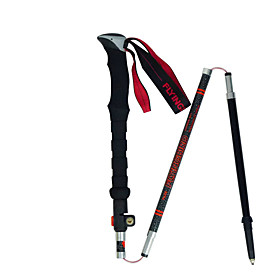 3 Sections Multifunction Walking Poles Trekking Pole Accessories 125cm (49 Inches) Outdoor Adjustable Length Handles Tungsten Carbon Fiber Camping / Hiking / C