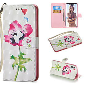 Case For Apple iPhone XR / iPhone XS Max Wallet / Card Holder / with Stand Full Body Cases Panda / Flower Hard PU Leather for iPhone XS / iPhone XR / iPhone XS