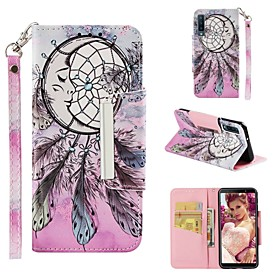Case For Samsung Galaxy A7(2018) / A6 (2018) Wallet / Card Holder / Shockproof Full Body Cases Dream Catcher Hard PU Leather for A6 (2018) / A6 (2018) / A7(201