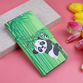 Case For Apple iPhone XR / iPhone XS Max Wallet / Card Holder / with Stand Full Body Cases Panda Hard PU Leather for iPhone XS / iPhone XR / iPhone XS Max