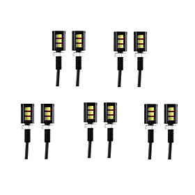 10pcs Wire Connection Motorcycle / Car Light Bulbs 3 W SMD 5630 60 lm 3 LED Daytime Running Lights / License Plate Lights / Turn Signal Lights For