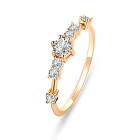 Women's Cubic Zirconia Classic Ring Tail Ring Imitation Diamond Flower Cute Ring Jewelry Gold / Silver For Party Engagement Daily Ceremony 6 / 7 / 8 / 9 / 10