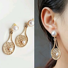 Women's Drop Earrings Imitation Pearl Steel Stainless Earrings Statement Jewelry Gold For Party Causal Street Holiday Club 1 Pair
