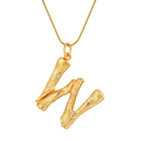 Women's X Pendant Necklace Letter Fashion Gold Black Silver 55 cm Necklace Jewelry 1pc For Gift Daily
