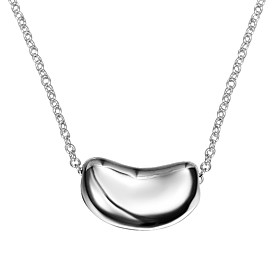 Women's Classic Pendant Necklace Chain Necklace Necklace Silver Plated Simple Trendy Romantic Fashion Cute Lovely Wedding Silver 46 cm Necklace Jewelry 1pc For