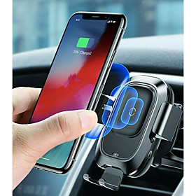 Baseus Qi Car Wireless Charger Air Vent Automatic Mount Holder For iPhone 8 Plus XR X XS Max Samsung Galaxy S10 S10 S10e S9 S8 Intelligent Infrared Sensor Fast