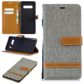 Case For Samsung Galaxy Galaxy S10 Plus / Galaxy S10 E Wallet / Card Holder / with Stand Full Body Cases Solid Colored Hard PU Leather for S9 / S9 Plus / S8 Pl