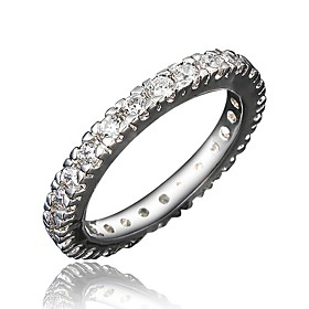 Women's Clear Cubic Zirconia Classic Ring Tail Ring 18K Gold Plated Imitation Diamond Stylish Luxury Romantic Fashion Elegant Ring Jewelry Gold / Silver For Pa