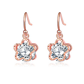 Women's Cubic Zirconia Vintage Style Drop Earrings Earrings Stylish Modern Elegant Jewelry Silver / Rose Gold For Gift Ceremony Evening Party 1 Pair