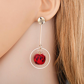Women's Drop Earrings Earrings Korean Fashion Modern Jewelry Gray / Brown / Red For Daily Street Going out 1 Pair
