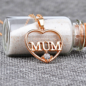 Women's Cubic Zirconia Name Pendant Necklace Imitation Diamond Heart Letter Fashion Modern Gold Silver 455 cm Necklace Jewelry 1pc For Gift Daily Festival