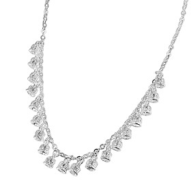 Women's Chain Necklace Necklace Charm Necklace Silver Plated Crown Simple Unique Design Trendy Romantic Cute Wedding Silver 46 cm Necklace Jewelry 1pc For Enga