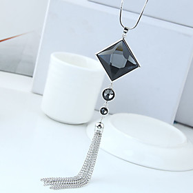 Women's Tassel Pendant Necklace Long Necklace Simple European Fashion Gray 70 cm Necklace Jewelry 1pc For Daily Date