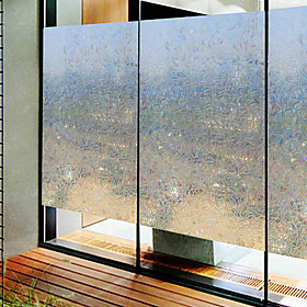 Window Film  Stickers Decoration Contemporary / 3D Geometric PVC(PolyVinyl Chloride) Window Sticker / Anti-Glare