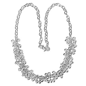 Women's Chain Necklace Necklace Charm Necklace Silver Plated Unique Design Trendy Romantic Fashion Cute Lovely Wedding Silver 46 cm Necklace Jewelry 1pc For Gi