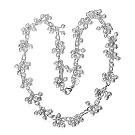 Women's Chain Necklace Necklace Charm Necklace Silver Plated Unique Design Trendy Romantic Hyperbole Cute Lovely Wedding Silver 46 cm Necklace Jewelry 1pc For