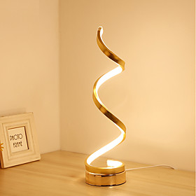 Simple / Modern Contemporary Ambient Lamps / Decorative Table Lamp / Desk Lamp For Bedroom / Study Room / Office Aluminum 220-240V Gold / White