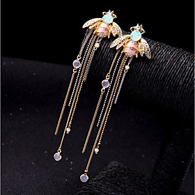 Women's Long Drop Earrings Imitation Diamond Earrings Statement Colorful Jewelry Gold For Wedding Party Engagement Going out Festival 1 Pair
