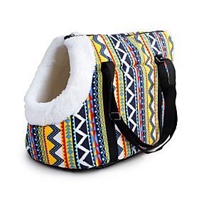 Dogs Cats Pets Carrier  Travel Backpack Shoulder Bag Pet Carrier Waterproof Portable Mini Solid Colored Red Blue Rainbow