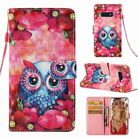 Case For Samsung Galaxy S9 Plus / S8 Wallet / Card Holder / Flip Full Body Cases Owl Hard PU Leather for S9 / S9 Plus / S8 Plus