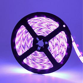 ZDM 5m Flexible LED Light Strips 300 LEDs SMD3528 UV (Blacklight) Waterproof / Cuttable / Party 12 V 1pc