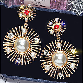 Women's Drop Earrings Imitation Pearl Gold Plated Imitation Diamond Earrings Baroque Jewelry Gold For Party Carnival Masquerade Prom 1 Pair