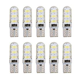 10pcs T10 Car Light Bulbs 1 W SMD 5730 60-100 lm 6 LED Side Marker Lights For