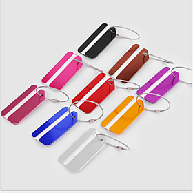 1 pc Luggage Tag Portable / Luggage Accessory for Portable / Luggage Accessory Aluminium Alloy - Wine / Golden / White / Silver