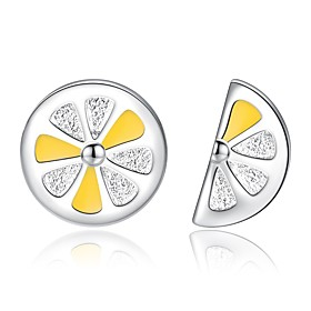 Women's Classic Mismatch Earrings Imitation Diamond Earrings Fruit Unique Design Trendy Jewelry Silver For Gift Daily 1 Pair
