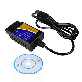 ZIQIAO 16pin Male to one Female OBD-II ELM327 ISO15765-4(CAN BUS) / SAE J1850 PWM / SAE J1850 VPW Vehicle Diagnostic Scanners
