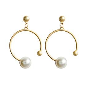 Women's Classic Stud Earrings Drop Earrings Hoop Earrings Earrings Geometric Classic Jewelry Gold For Daily Formal 1 Pair