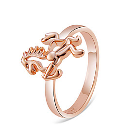 Couple's Classic Ring Copper Rose Gold Plated Horse Simple Ring Jewelry Rose Gold For Daily Formal Office  Career 6 / 7 / 8