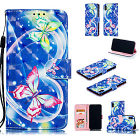 Case For Apple iPhone XS / iPhone XS Max Wallet / Card Holder / with Stand Full Body Cases Butterfly Hard PU Leather for iPhone XS / iPhone XR / iPhone XS Max