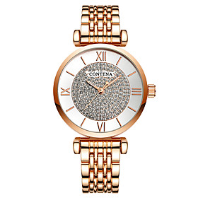 Women's Dress Watch Quartz Stainless Steel Silver / Gold / Rose Gold 30 m Shock Resistant Casual Watch Analog Luxury Fashion - Gold / Silver Rose Gold Champagn
