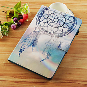 Case For Samsung Galaxy Tab S4 10.5 (2018) / Tab A2 10.5(2018) Wallet / Card Holder / with Stand Full Body Cases Dream Catcher Hard PU Leather for Tab S4 10.5