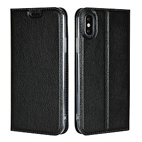 Nillkin Case For Apple iPhone XS / iPhone XS Max Card Holder / with Stand Full Body Cases Solid Colored Hard Genuine Leather for iPhone XS / iPhone XR / iPhone