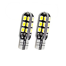 SENCART 2pcs T10 / BA9S / BAX9S Motorcycle / Car Light Bulbs 3 W SMD 2838 160 lm 24 LED License Plate Lights / Turn Signal Lights / Interior Lights For Volkswa