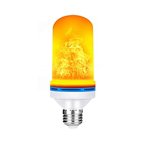 1pc 5 W 150 lm E26 / E27 LED Globe Bulbs 99 LED Beads SMD 2835 Color Gradient / Flame Flickering Warm White 85-265 V