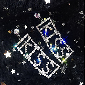 Women's Drop Earrings Imitation Diamond Earrings Statement Jewelry Gold / Silver For Wedding Party Carnival Club Bar 1 Pair
