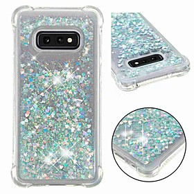 Case For Samsung Galaxy S10 / S10 / S10E / S9 Plus / S8 Shockproof / Flowing Liquid / Transparent Back Cover Glitter Shine Soft TPU for S9 / S9 Plus / S8 Plus